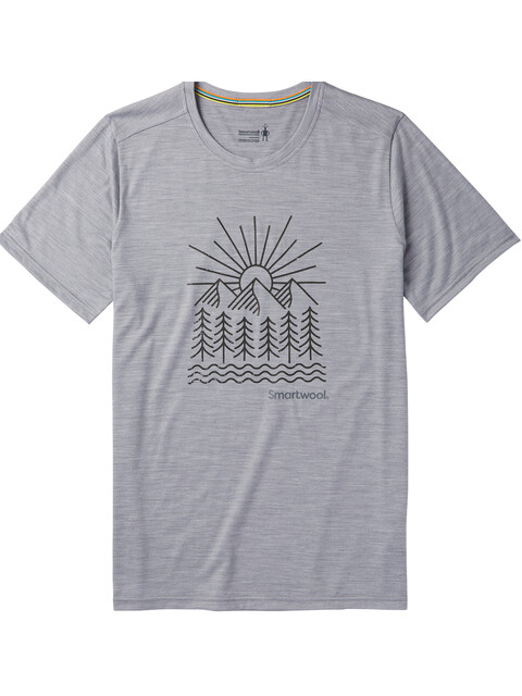 Smartwool Merino Sport 150 Mountain Morning t-shirt Heren grijs